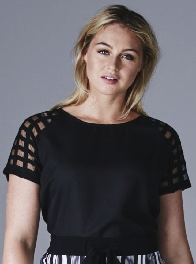 SimplyBe Grid-Sleeve Shell Top