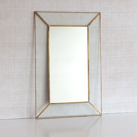 Zara Home Crystal Mirror with Metal Edge