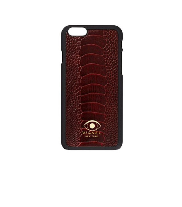 Vianel iPhone 6 or 6s Cranberry Ostrich Personalized Case