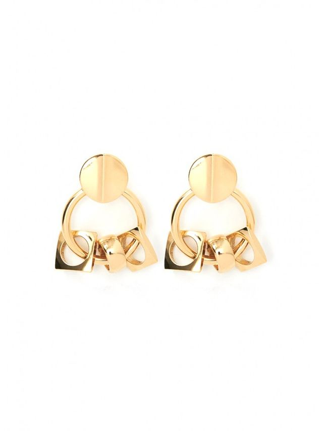Lizzie Fortunato Retro Gold Earrings