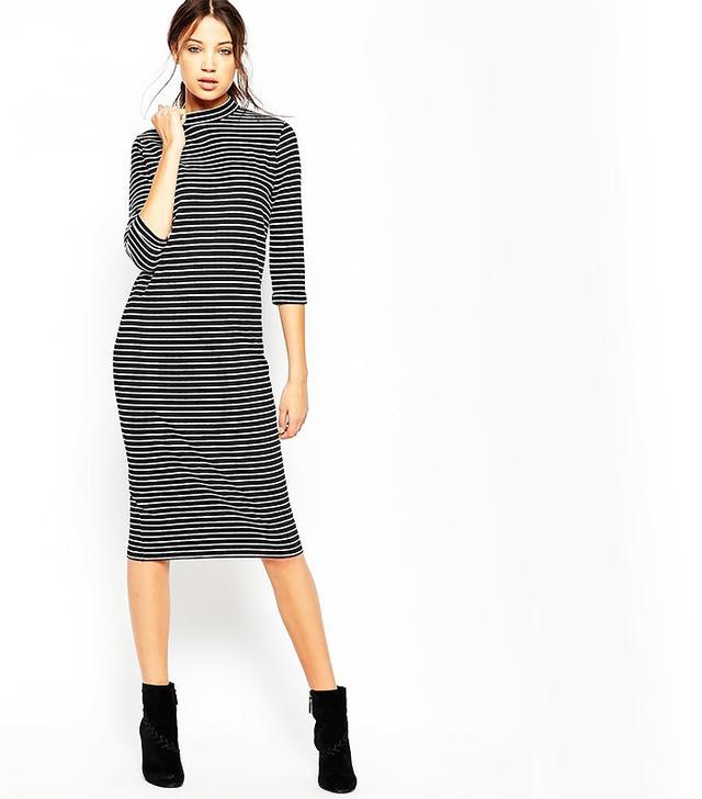 ASOS Tall Midi Column Dress in Stripe