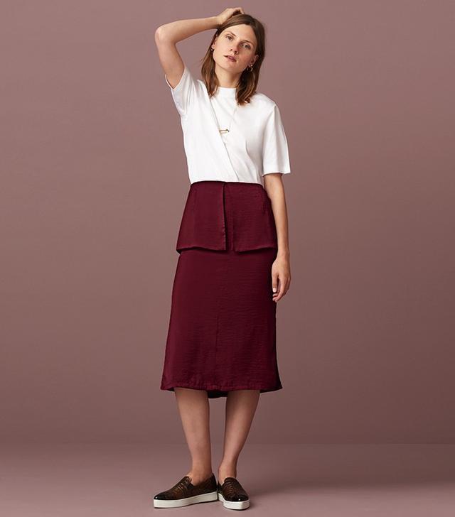 Finery London Bideford Soft Peplum Skirt