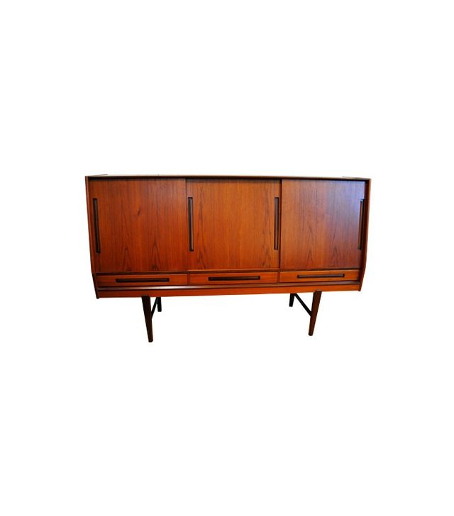 Chairish Vintage Danish Modern Teak and Rosewood Credenza