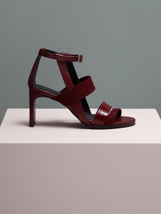 Finery London Hepworth Leather Slice Heel Sandals