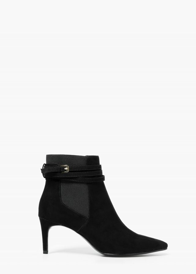 Mango Buckle Ankle Boots