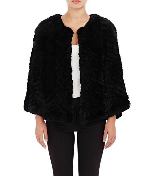Barneys New York Rabbit-Fur Jacket