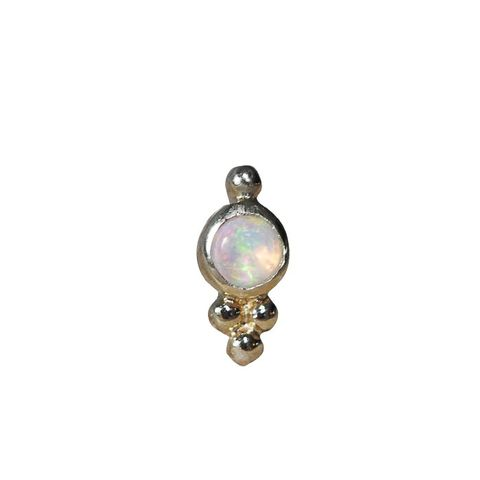 Opal Trinity Helix Stud