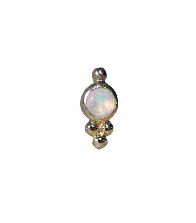 Maria Tash Jewelry Opal Trinity Helix Stud