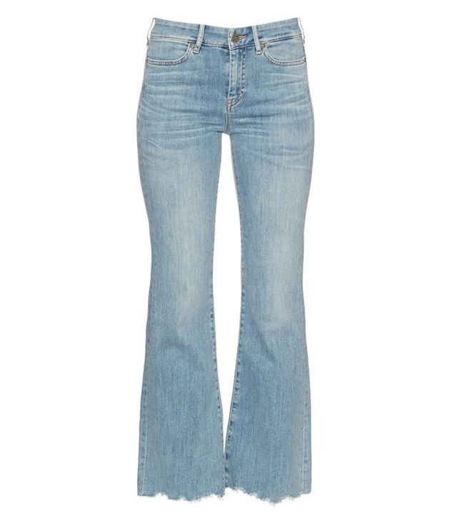 MiH Lou High-Rise Flared Cropped Jeans
