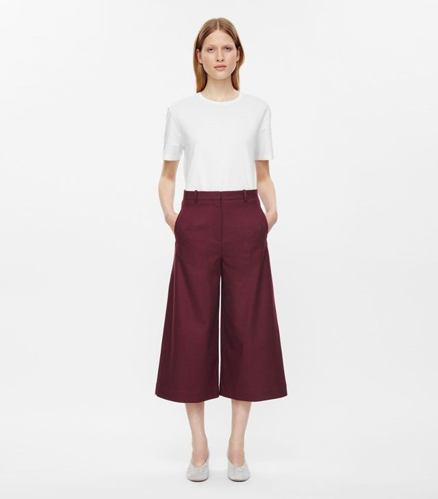 COS Wool Cropped Trousers