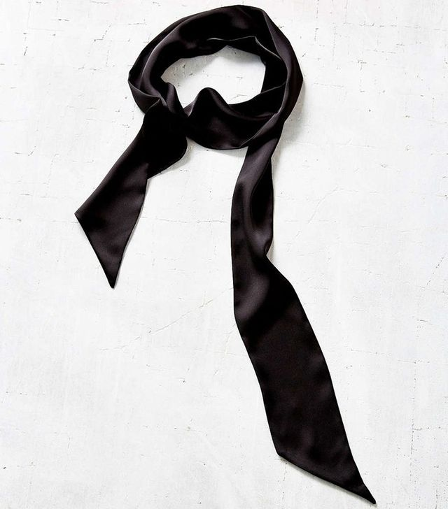 Urban Outfitters Satin Skinny Tie Scarf