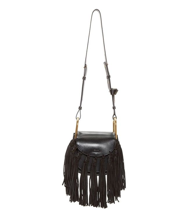 Chloé Leather Fringed Mini Hudson Bag