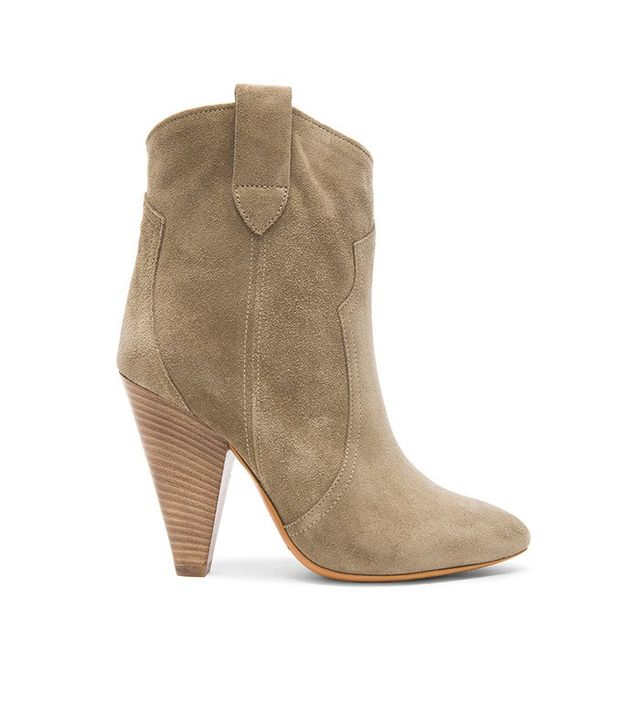 Isabel Marant Etoile Roxann Calfskin Velvet Leather Booties