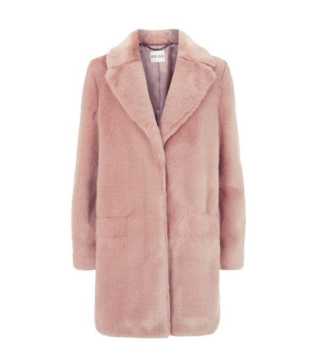Reiss Alba Faux Fur Coat