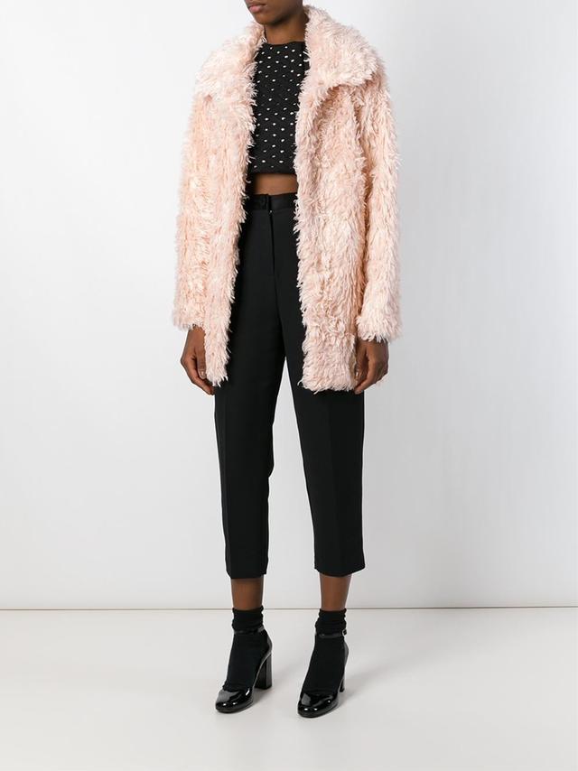 Jeremy Scott Faux Fur Short Coat