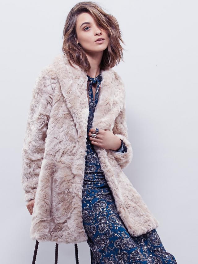Free People Faux Fur Bliss Coat