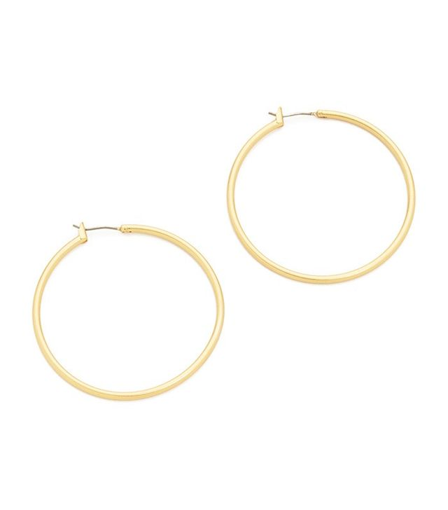 Madewell Simple Metal Hoop Earrings