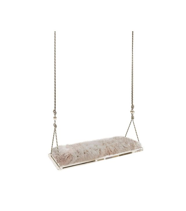 B. Pila Design Studio Pick Me Tibetan Lambswool Swinging Bench
