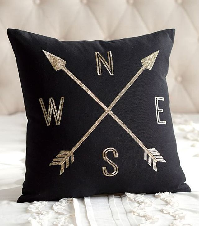 Emily and Meritt for PBteen Compass Pillow Cover