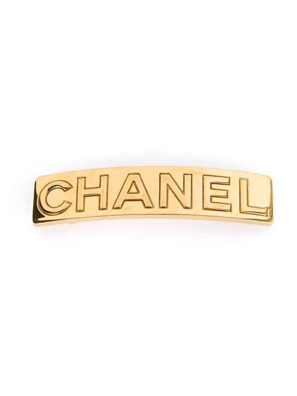 Chanel Vintage Engraved Logo Hair Clip