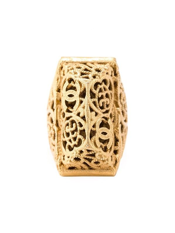 Chanel Vintage Bombay Engraved Ring