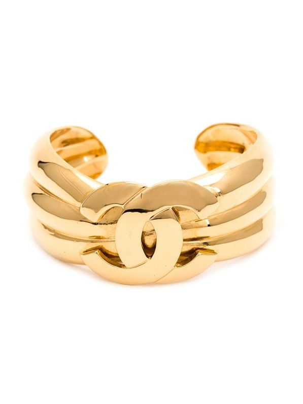 Chanel Vintage Padded Effect Cuff