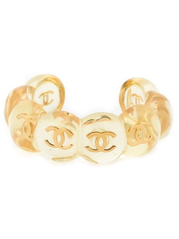 Chanel Vintage Round Logo Cuff