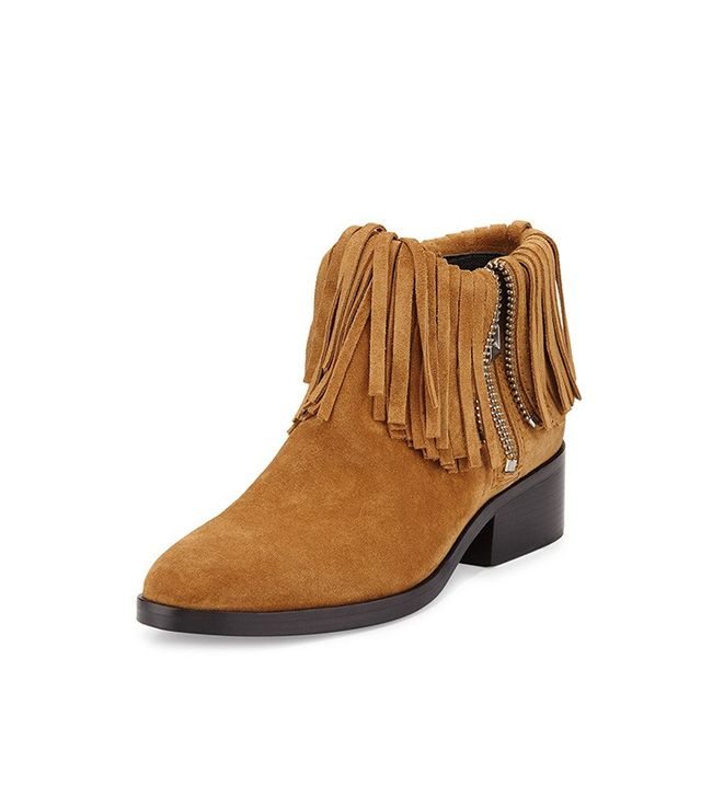 3.1 Phillip Lim Alexa Fringed Suede Ankle Booties