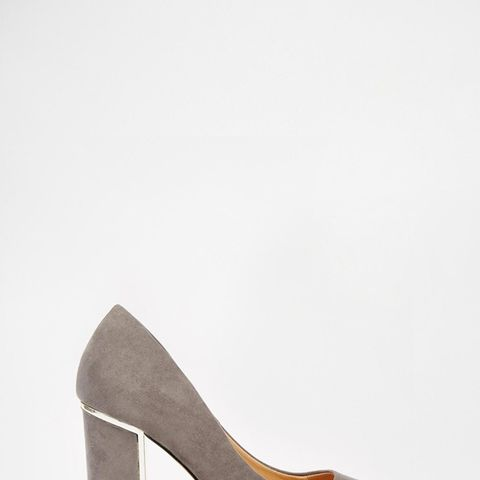 Arista Gray & Gold Detail Heeled Pumps