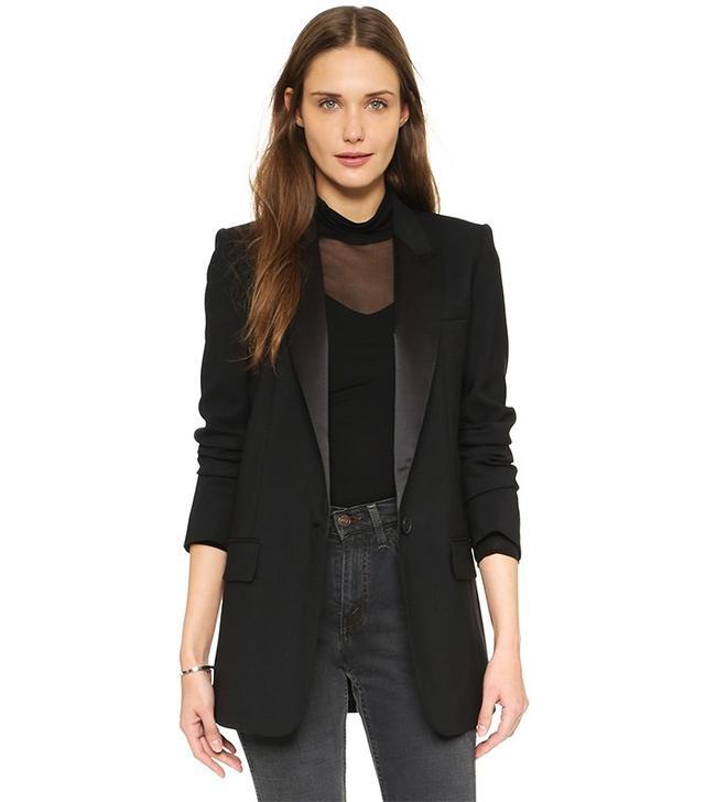 DKNY Jacket With Satin Peaked Lapels