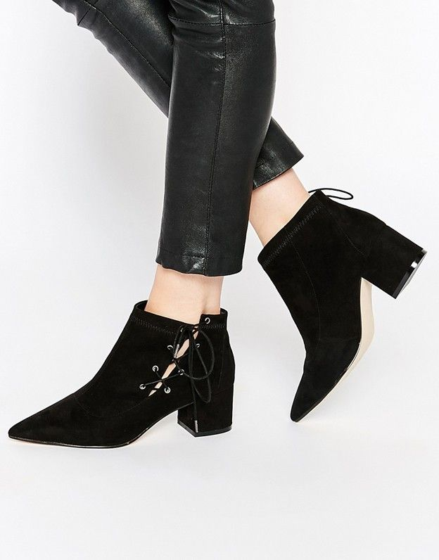 ASOS Ronny Pointed Lace Up Ankle Boots