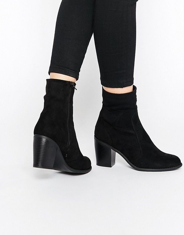 Truffle Collection Chloe Sock Heeled Ankle Boots
