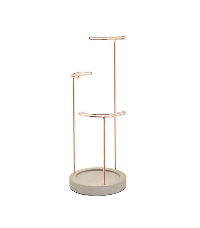 Black Lamb Copper & Concrete Jewelry Hanger
