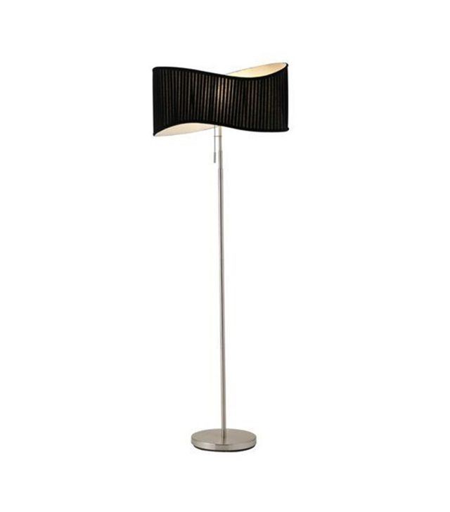 One Kings Lane Symphony Floor Lamp in Brushed Steel