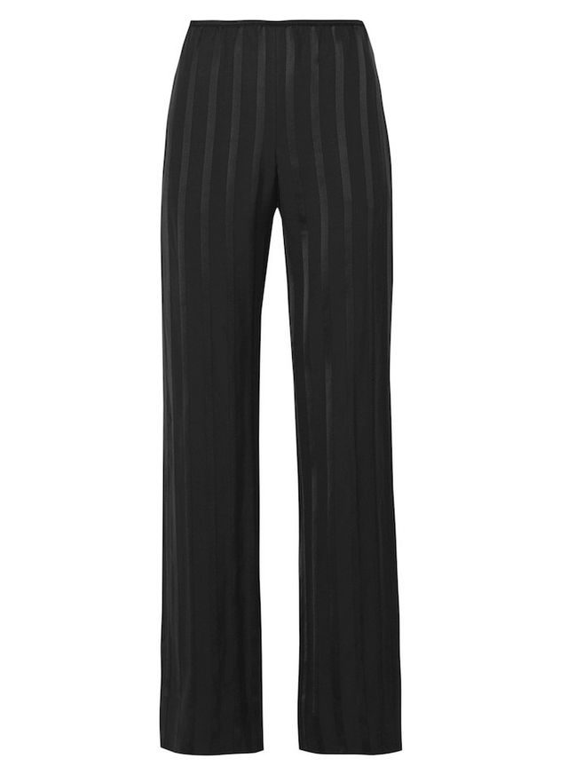 Theory Pajeema striped satin wide-leg pants