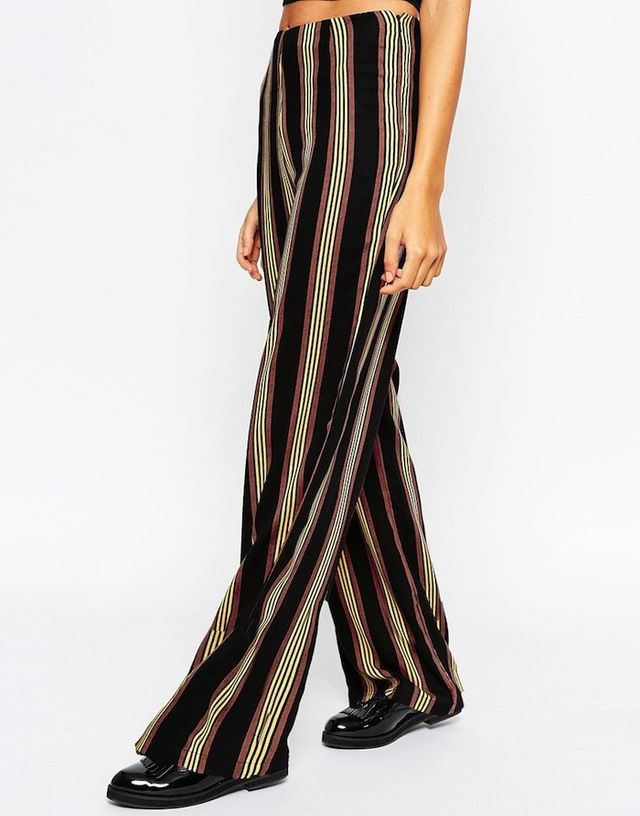 ASOS Wide Leg Pants in 70's Stripe