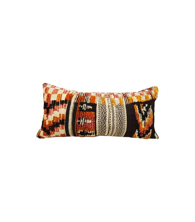 Maison Suzanne Custom Vintage Moroccan Hand-Loomed Wool Pillow