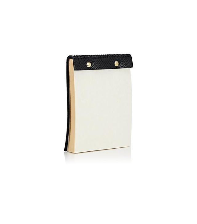 Barneys Leather-Bound Notepad