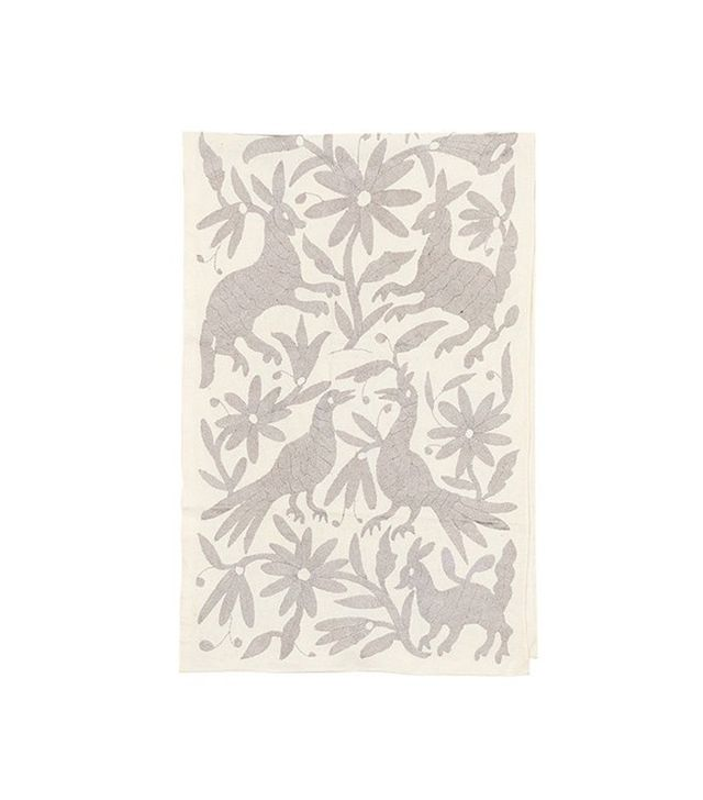 Lizzie Fortunato Pale Gray Otomi Runner