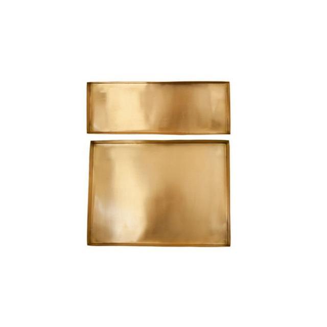 The Minimalist Brass Trays