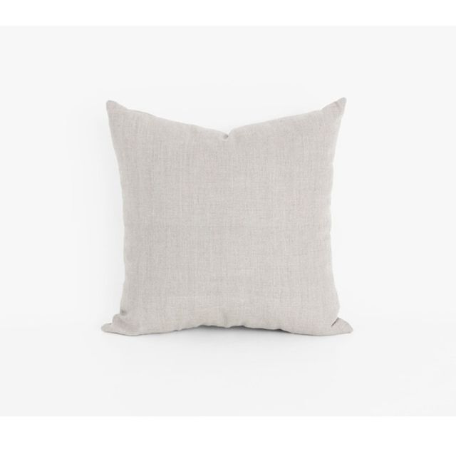 Mr & Mrs White Linen Classic Cushion