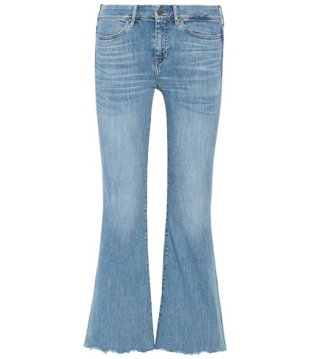 MiH Lou Cropped High-Rise Flared Jeans