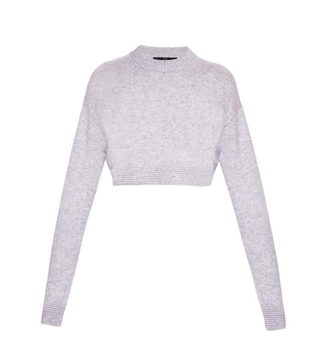 Tibi Cropped Cashmere Sweater