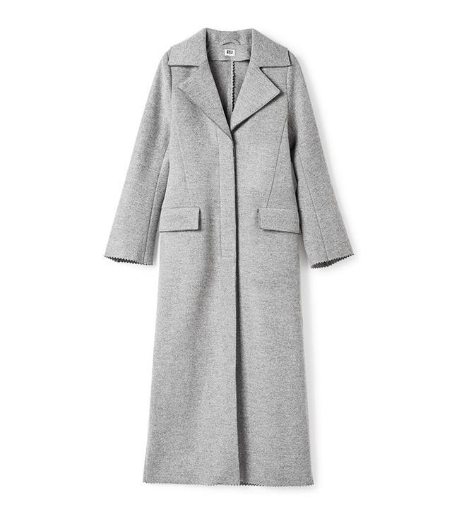 PC Grant Grey Flared Coat