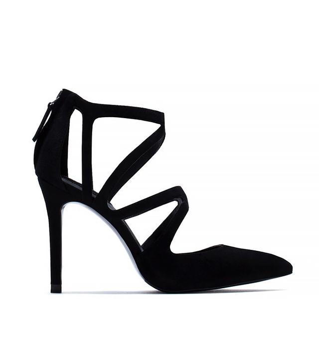 Zara Crossover Leather High Heels