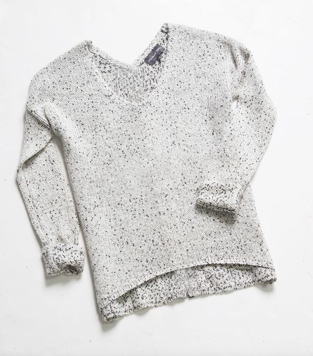 Michael Stars Multi Stitch V Neck Sweater