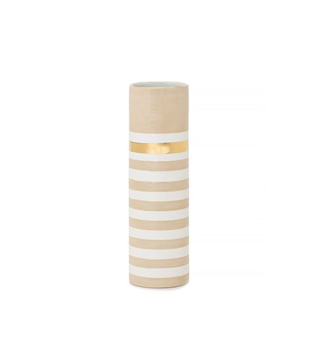 Design Darling Taupe Lucky Stripe Vase