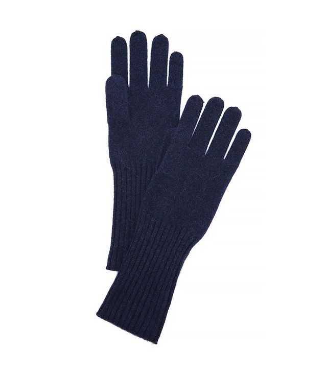 White + Warren Cashmere Rib Trim Glove