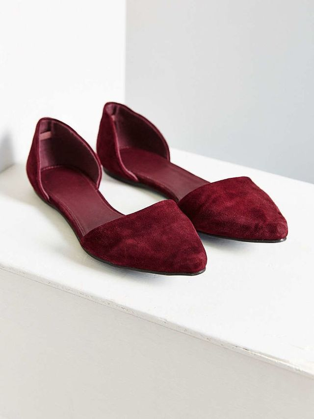 Urban Outfitters Suede d'Orsay Flat