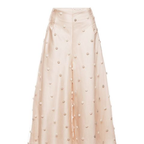 Dot Embroidered Culottes
